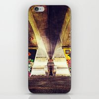 graffiti iPhone & iPod Skins featuring 'GRAFFITI' by Dwayne Brown