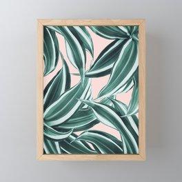Dracaena Tropical Leaves Pattern #1 #tropical #decor #art #society6 Framed Mini Art Print