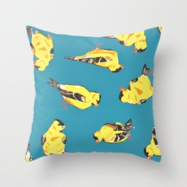 Goldfinches Throw Pillow
