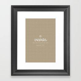 Inspire Confidence Framed Art Print