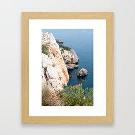Summer landscapes around Costa Brava, impressive cliffs and coastlines. Framed Art Print