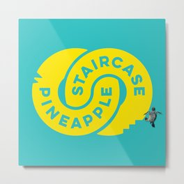 PineappleStaircase | Official Logocolor 2015 in Turquoise/Yellow + Honu Metal Print