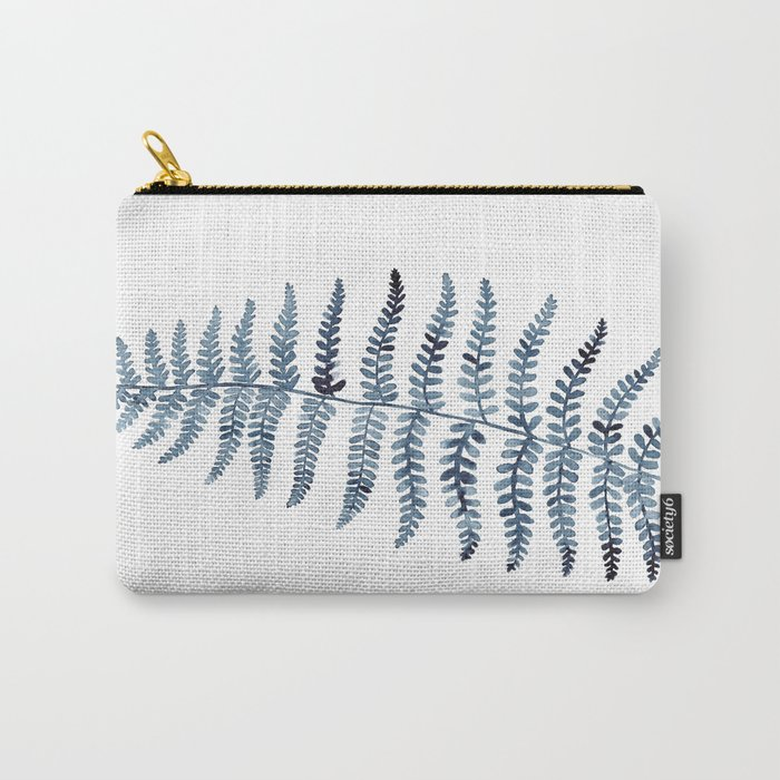 Indigo Fern 1 | Watercolour Painting Carry-All Pouch