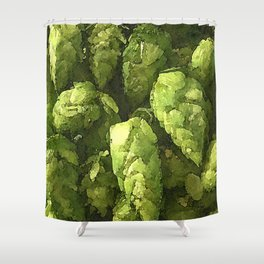 Fresh Cascade Hops Shower Curtain