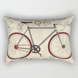 Love Fixie Road Bike Rectangular Pillow