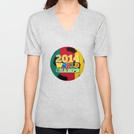 2014 World Champs Ball - Cameroon Unisex V-Neck