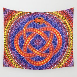 Red Celtic Snake Wall Tapestry