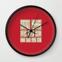 princess bride Wall Clocks featuring The Princess Bride by MacGuffin Designs