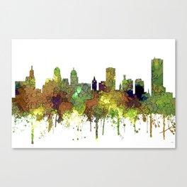 Buffalo, New York Skyline - SG Safari Buff Canvas Print