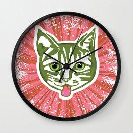 Razzle Dazzle Mollycat Wall Clock