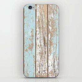 WOOD BLUE TEXTURE iPhone Skin