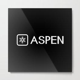 Snowflake: Aspen, Colorado Metal Print