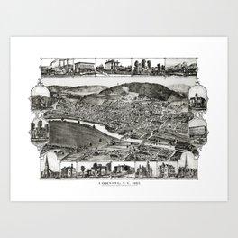 Corning - New York - 1882 Art Print