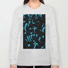 3D Abstract Ornamental Background Long Sleeve T-shirt