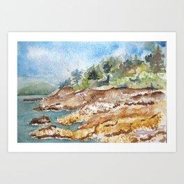 Casco Bay Art Print