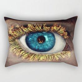 Eye in Flames Rectangular Pillow