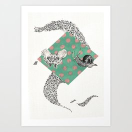 Snail and Pelvics  Art Print