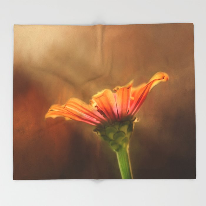 Flower of Fall Throw Blanket