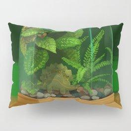 Tiny Dinosaur Terrarium with Stegosaurus Pillow Sham
