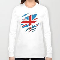 british flag Long Sleeve T-shirts featuring British Flag Pride by northside