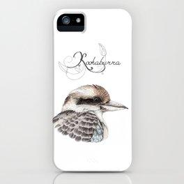 "Laughing Kookaburra ""King of the Bush"" iPhone Case"