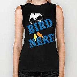 Bird Watcher Design Funny Birds Watching Birding Nerd Tee Biker Tank