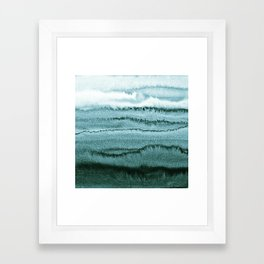 WITHIN THE TIDES - OCEAN TEAL Framed Art Print