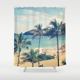 Vintage Beach Shower Curtains