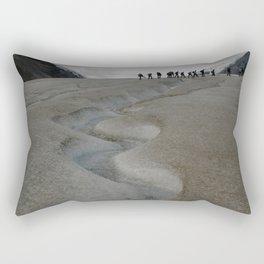 Glacial Stream and Hikers Rectangular Pillow