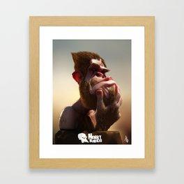Henry the homo habilis Framed Art Print