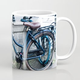 Blue Dutch Amsterdam Bicycle Bike Coffee Mug