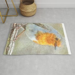 The Robin Is A Gabriel Watercolor Rug