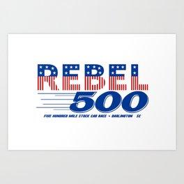 Rebel 500 NASCAR Art Print