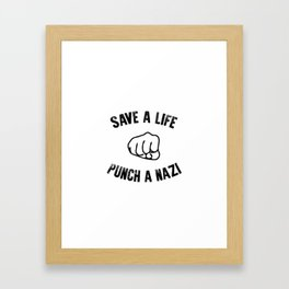 Save a Life Framed Art Print