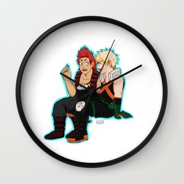 Heroes need down time too - Blue Border Wall Clock