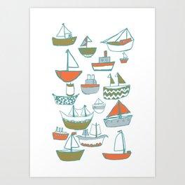 Hey Little Boat Art Print