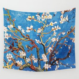 Van Gogh Branches of an Almond Tree in Blossom Wall Tapestry