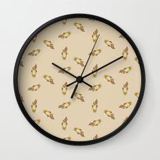 Squirrel Pattern Wall Clock