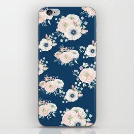 Dog Rose Pattern iPhone Skin
