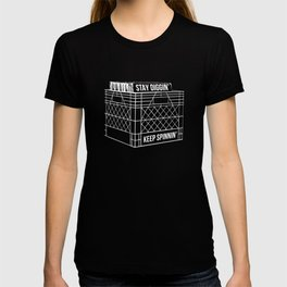 Stay Diggin' & Keep Spinnin' Vinyl Record Crate Digger T-shirt