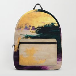 Sassenach Purple and Gold Backpack
