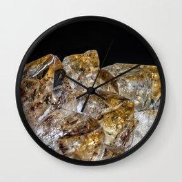 Citrine Crystals Wall Clock