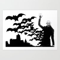 Nosferatu - the real bat Art Print