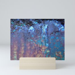 Waterfall. Rustic & crumby paint. Mini Art Print