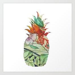 Pineapple fabric Art Print