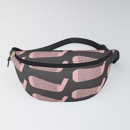 Golf Club Head Vintage Pattern (Black/Pink) Fanny Pack