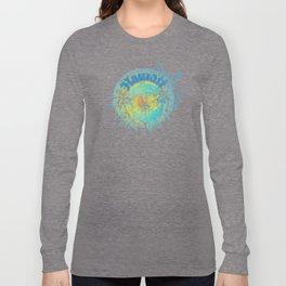Hawaiian Tribal Dolphin Ocean Splash Long Sleeve T-shirt