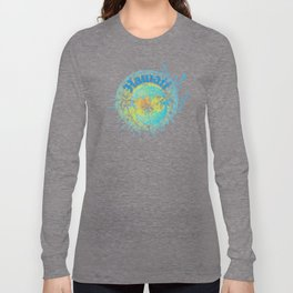Hawaiian Tribal Dolphin Ocean Splash Long Sleeve T-shirt