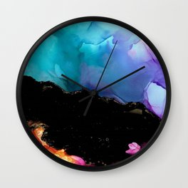 Mountainside Abstract Wall Clock