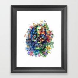 tropical floral skull 3 Framed Art Print
